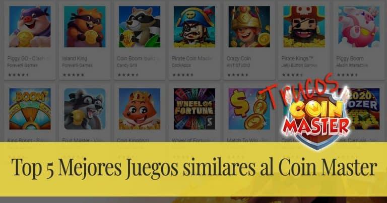 Top 5 Mejores Juegos similares al Coin Master