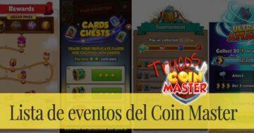 Lista de eventos del Coin Master
