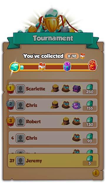 Tournament Milestone (Metas del torneo) >Eventos del coin master