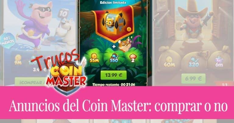 Anuncios del Coin Master: comprar o no