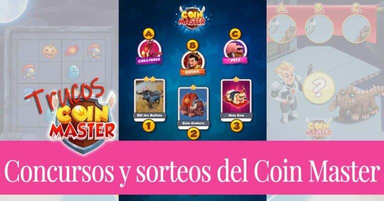 Concursos y sorteos en las páginas sociales de Coin Master